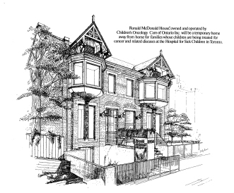 Oeuvre d'un artiste 1981, premier Manoir Ronald McDonald