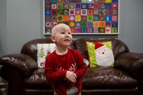 Daxton Schlosser, 4 ans, à l'OMRM à Edmonton